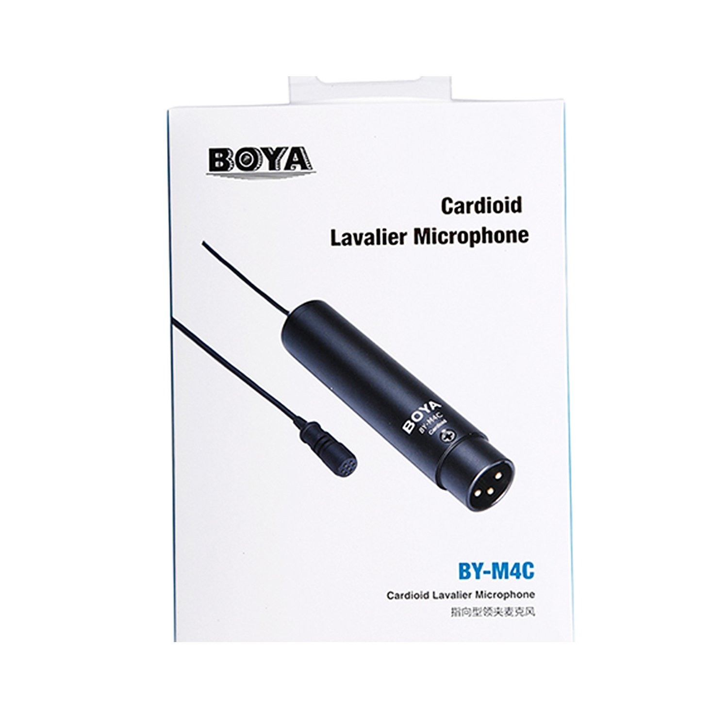 BOYA BY-M4C 3 PIN XLR Phantom Power Cardioid Clip-On Lavalier Microphone for Canon Sony Panasonic Camcorders ZOOM H4n H5 H6 TASCAM Audio Recorders