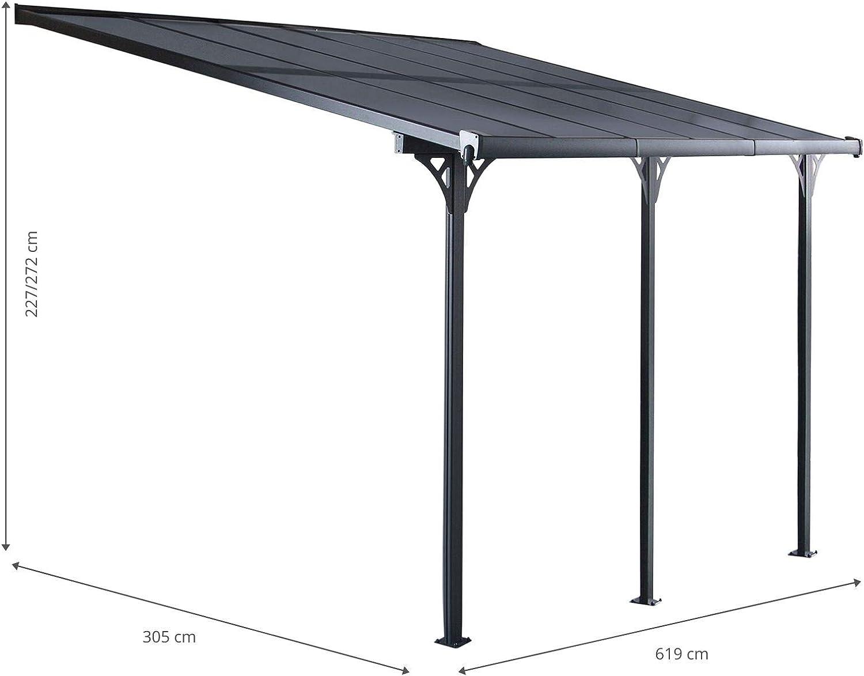 GARDIUN KIS13018 - Pérgola de Pared Elliot - 18.8 m² 619 x ...