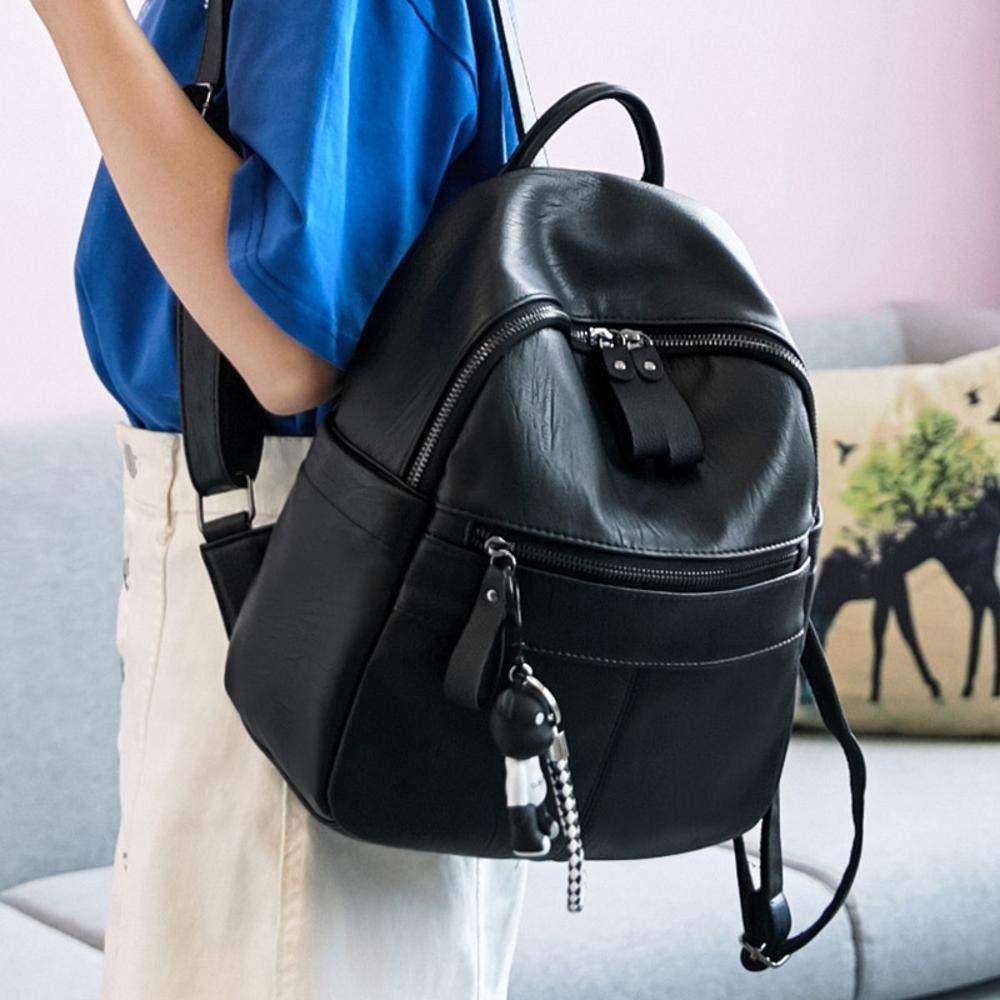 Ambiguity Ladies Backpacks Travel,Fashion Backpack Soft Leather Pu Leisure Students Backpacks 29x12x26cm