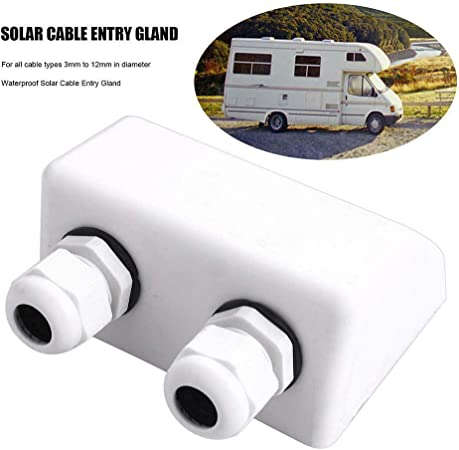 US Entry Gland Junction Box Double Cable Connection Case Roof Solar Panel Stable