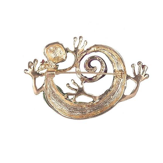 Amazon.com: Broche con diseño de orcbee de ópalo de lagarto ...