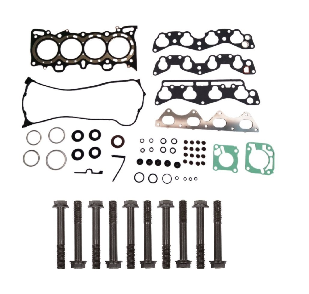 Head Gasket Set Bolts for 1996-2000 Honda Civic CX DX EX LX DEL Sol S Si 1.6L L4 GAS SOHC D16Y7 D16Y8 D16Y5