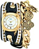 La Mer Collections Women's LMCW2003 Nautical Charms Wrap Watch