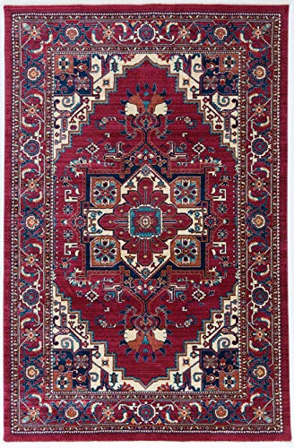 Antep Rugs Oriental Wave Collection Tabriz Design Oriental Area Rug, ()