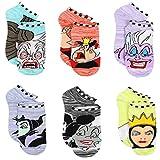 Disney Villains Girls Teen Womens 6 pack Socks (6-8 Girls (Shoe: 10-4), Villains Purple/Multi)
