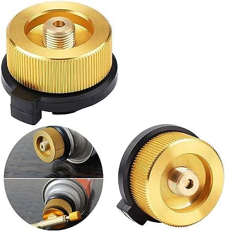 tingz 2PCS Adaptador de Estufa de antorcha de Gas para Acampar al Aire Libre Conector de convertidor de Estufa para Recipiente de butano para ...