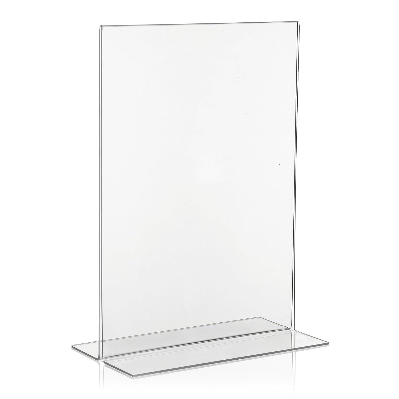 VITAdisplays®–Espositore per volantini/T Supporto per/espositore da tavolo/acrilico, DIN A4(21x 29,7cm), trasparente (ne-380)