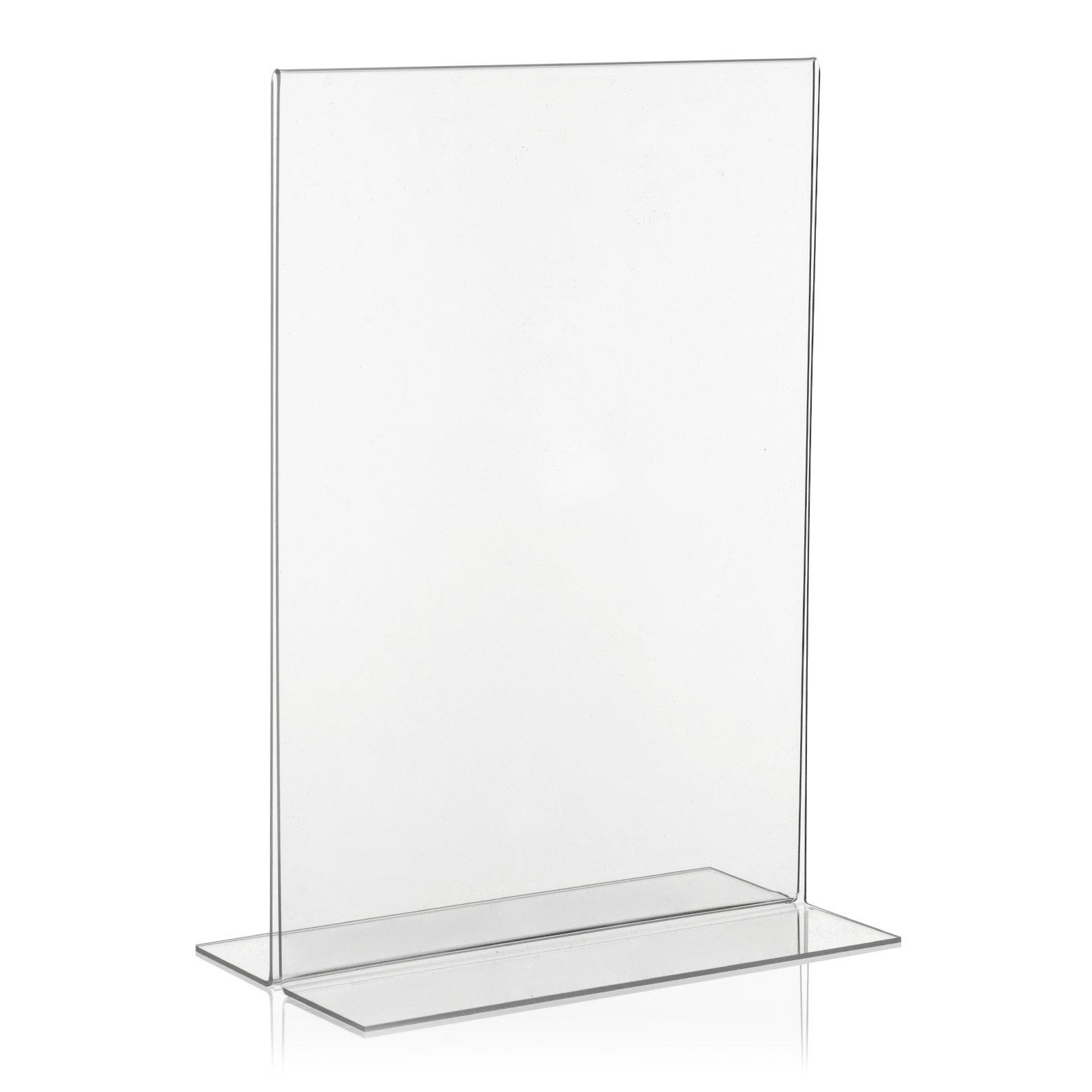 30 DIN A 8 AUFSTELLER NEU GLAS PREISSCHILD L-STÄNDER WERBESTÄNDER WERBUNG PLEXI