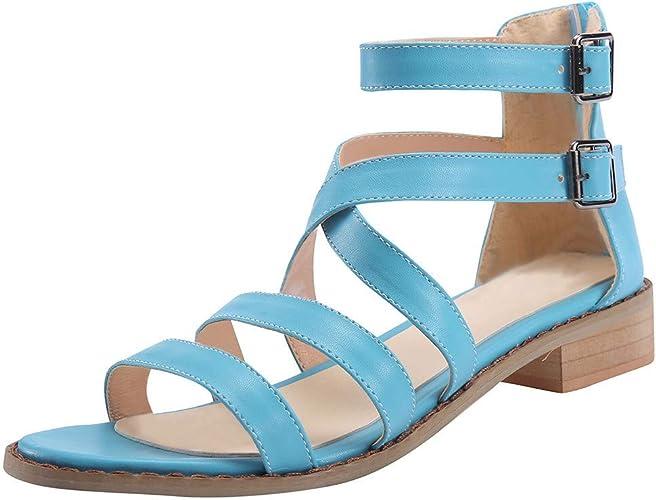 iYmitz Damen Bequeme Plattform Sandalen Schuhe Sommerschuhe