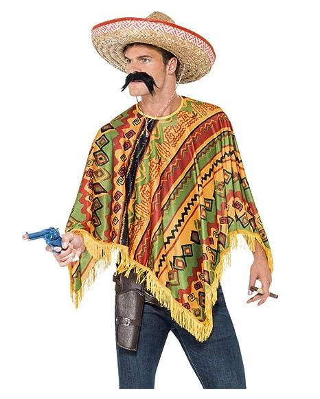 Horror-Shop Poncho messicano con la barba  Amazon.it  Giochi e ... b19f3e9ff3e0
