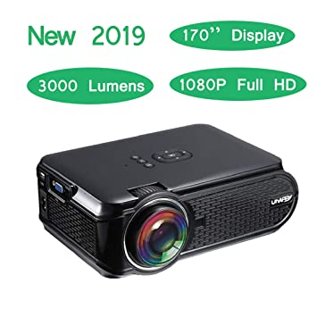 uksoku U90 Mini portátil proyector HD 1080P 3000 lúmenes LED ...