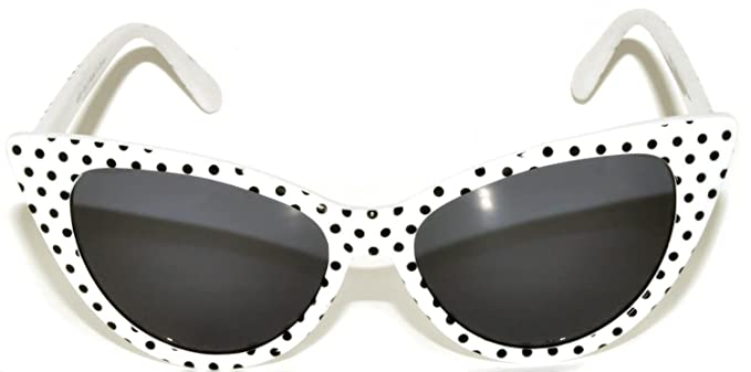 69bb69dfad Image Unavailable. Image not available for. Color: Women's Vintage Cat Eye  Sunglasses UV Protection OWL (.WHITE-FRAME-W-