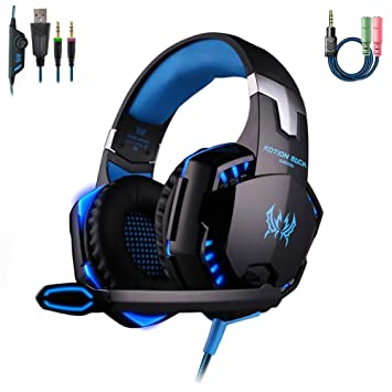 Huang Dog Shop Casque Gamer Usb 35 Mm Gaming Headsetaudio Haute