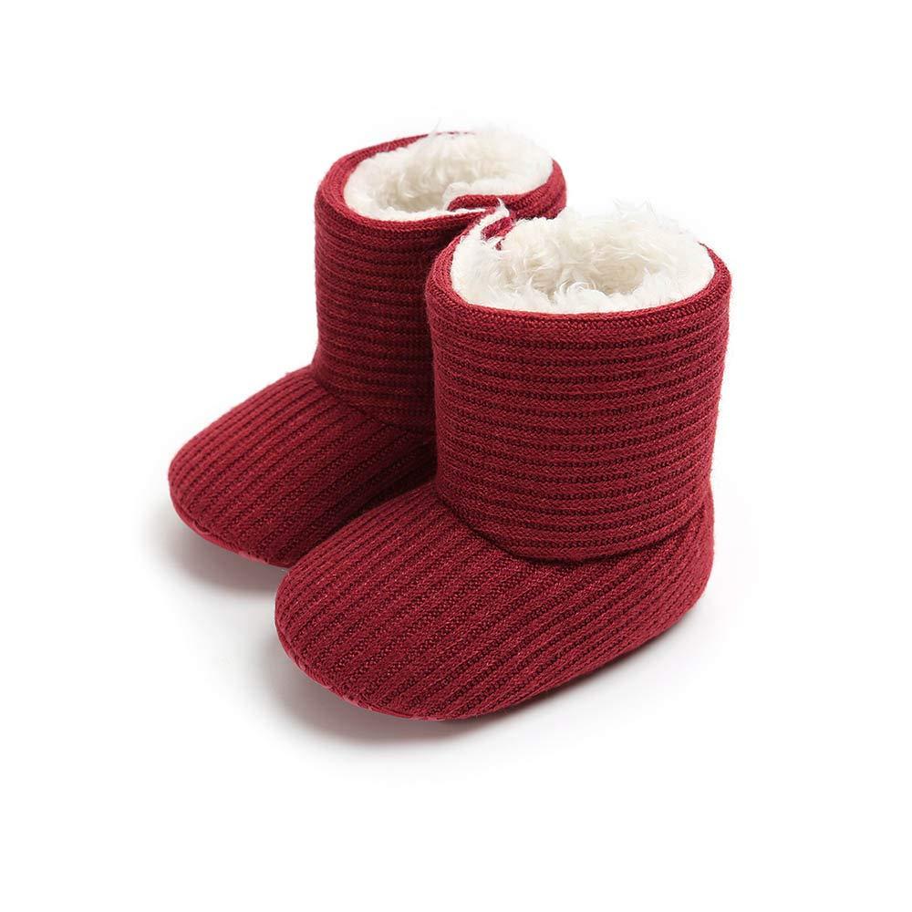 MK MATT KEELY Baby Boys Girls Soft Sole Snow Boots Winter Warm Shoes Booties
