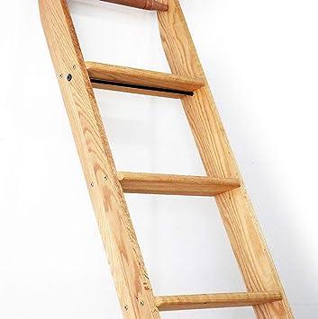 Quite Guide - Escalera para biblioteca, 2,4 m, roble rojo sin montar: Amazon.es: Bricolaje y herramientas
