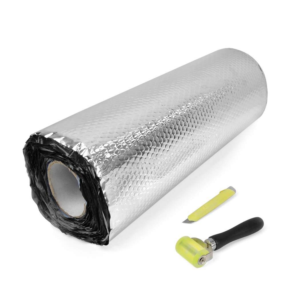 36 sqft Pyle Premium Car Insulation Audio Sound Deadening Material Foam Self-Adhesive and Automotive Dampening Mat PNVBD3621