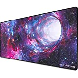 Eastshining Extended Gaming Mouse Pad, Large Size (35×16×0.1inch) Computer Keyboard Desk Mouse Mat Mousepad, Water Resistant Long Non-Slip Rubber Mice Pads with Stitched Edges