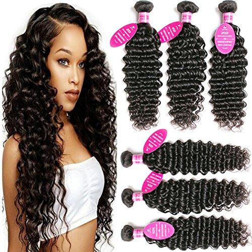 Younsolo Brazilian Deep Wave with Bundles Unprocessed Virgin Brazilian Human Hair Extension Brazilian Deep Wave Natural Color
