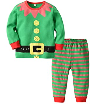 site autorisé moins cher produits de commodité BESTOYARD Pyjama Bébé Enfant Noel Pyjama Elfe Vetement Lutin ...