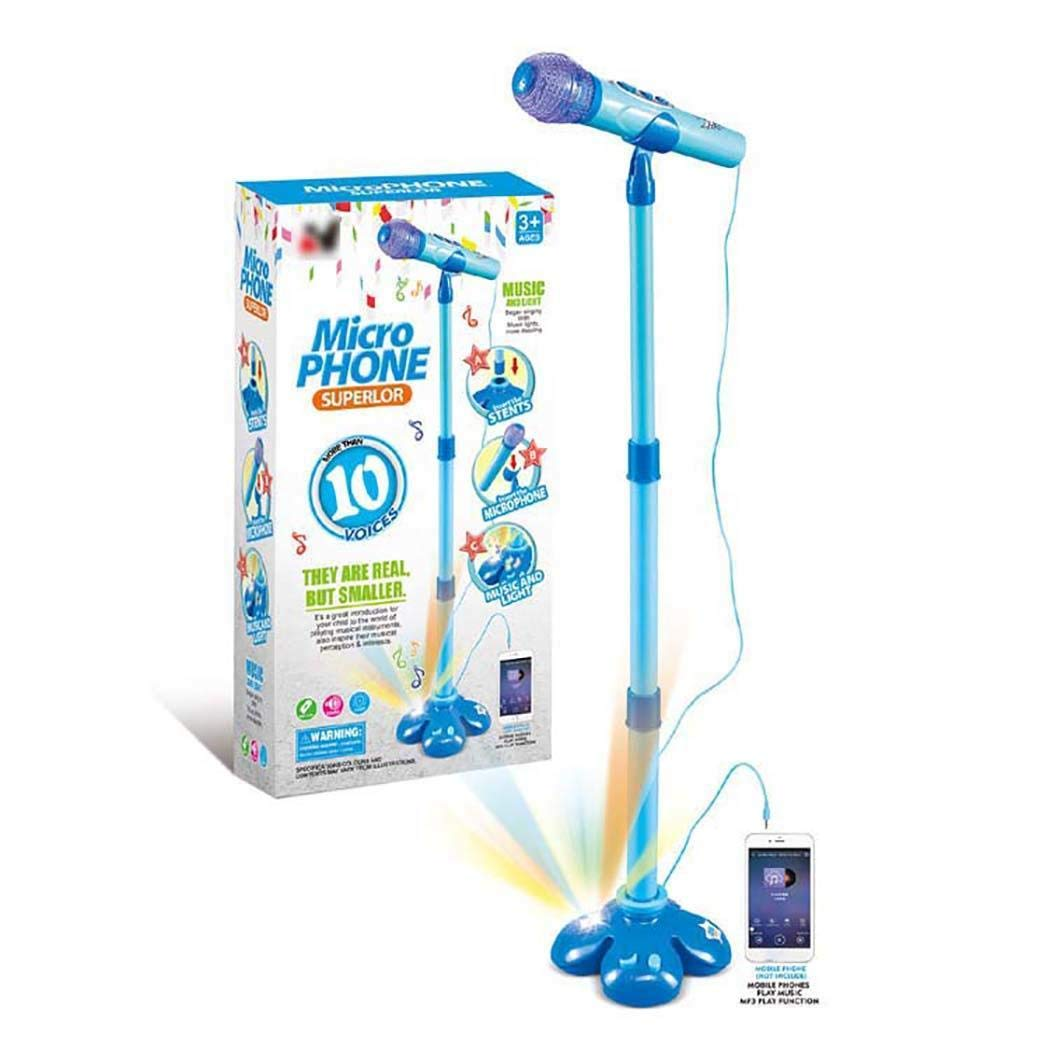 Kioiur Kids Education Musical Toy Stand Type Music Microphone with Colorful Light Gift by Kioiur