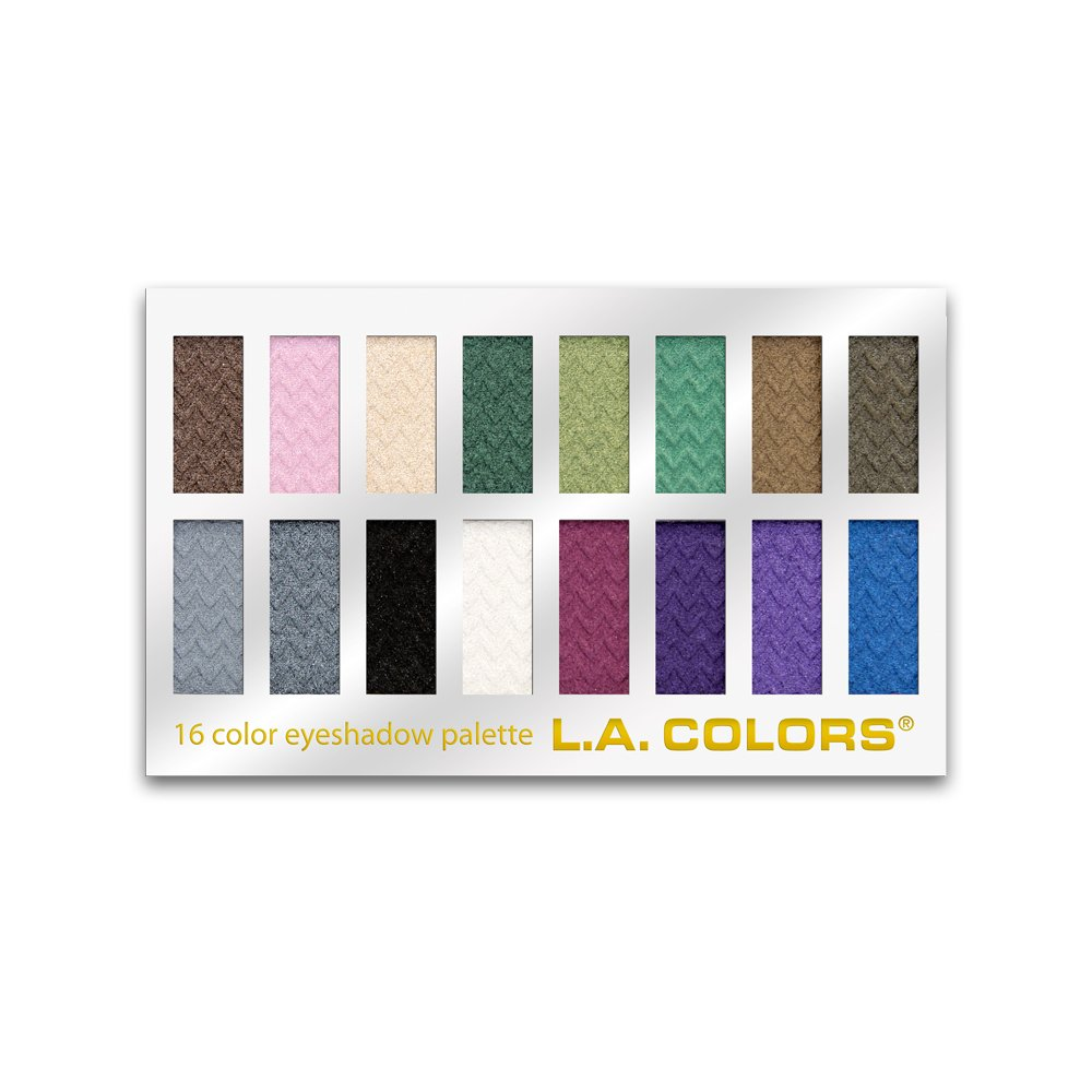 L.A. Colors 16 Color Eyeshadow Palette, Smokin', 1.02 Oz Smokin' L.A. Colors Cosmetics LA74203
