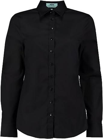 HAWES & CURTIS Camisa de popelina semiajustada para mujer Negro Negro (42: Amazon.es: Ropa y accesorios