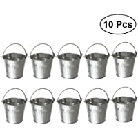 BESTONZON 10 piezas Mini Tinplate Metal Cubo Hielo
