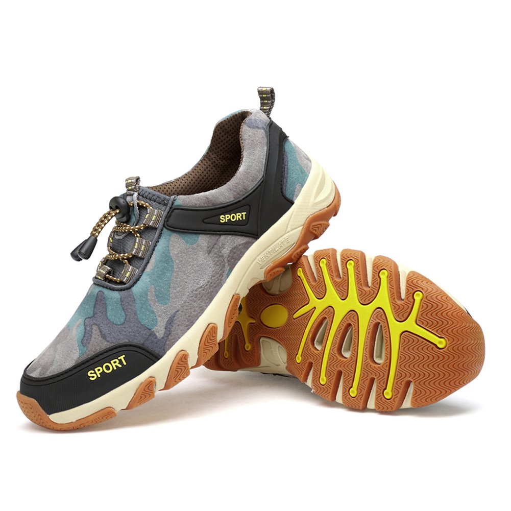 Fashion Sneakers Running Shoes Fitness Cross Training Autumn Men Leather Wear Outdoor Leisure Sports Wear Non-Slip Hiking