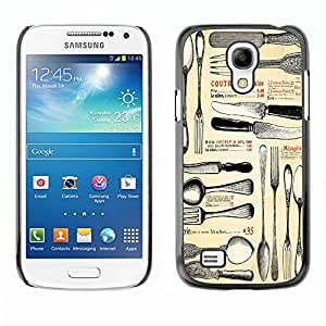 Dragon Case - FOR Samsung Galaxy S4 Mini i9190 - knife and fork - Caja protectora de pl??stico duro de la cubierta Dise?¡Ào Slim Fit