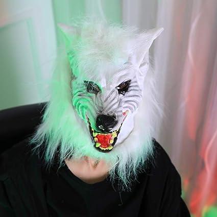 Mascara Halloween Terror, Zolimx para Halloween Party Cosplay Máscara de Terror Máscara de Lobo Fantasma