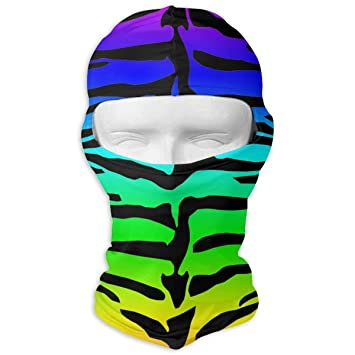 Queendesign Rainbow Leopard Tiger Balaclava - Windproof   Dust Protection  Motorcycle Helmet Liner Soft and Breathable 03bbc3fc3