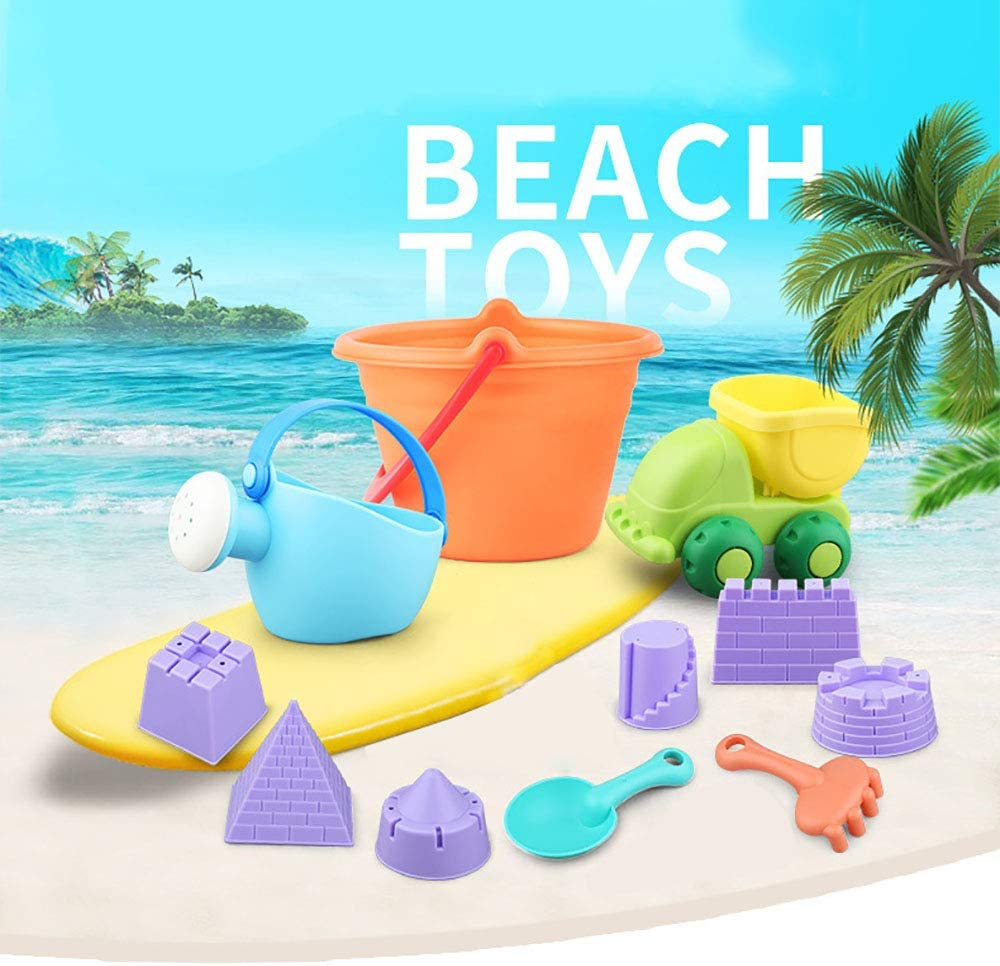 6x Beach Sand Castle Building Model Mold Beach Fun Toys For Children Kid Toy LY