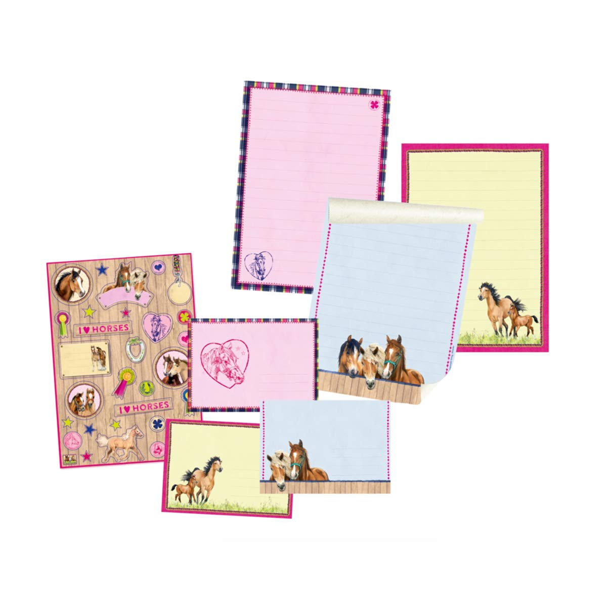 Model # 12511 Horse Friends Stationery Writing Paper Set