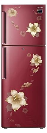 Samsung 253 L 2 Star ( 2019 ) Frost Free Double Door Refrigerator(RT28N3342R2/HL, RT28N3342R2/NL, Star ( 2019 ) Flower Red, Inverter Compressor)