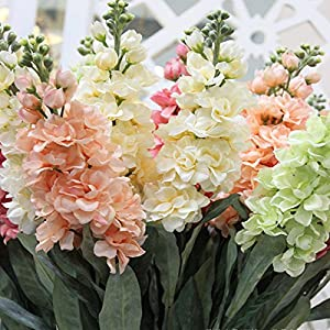 Roossys Hyacinth Artificial Flowers Hyacinth Violet Flower Fake Silk Artificial Flowers Marriage Birthday Party Bridal Floral Home Decoration Ornamental Flower Decoration 26