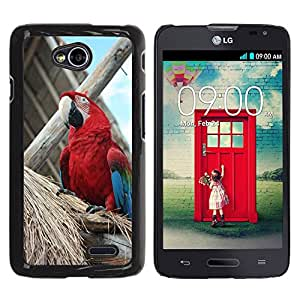 Hot Style Cell Phone PC Hard Case Cover // M00116380 Parrot Bird Tropical Mexico Exotic // LG Optimus L70 MS323