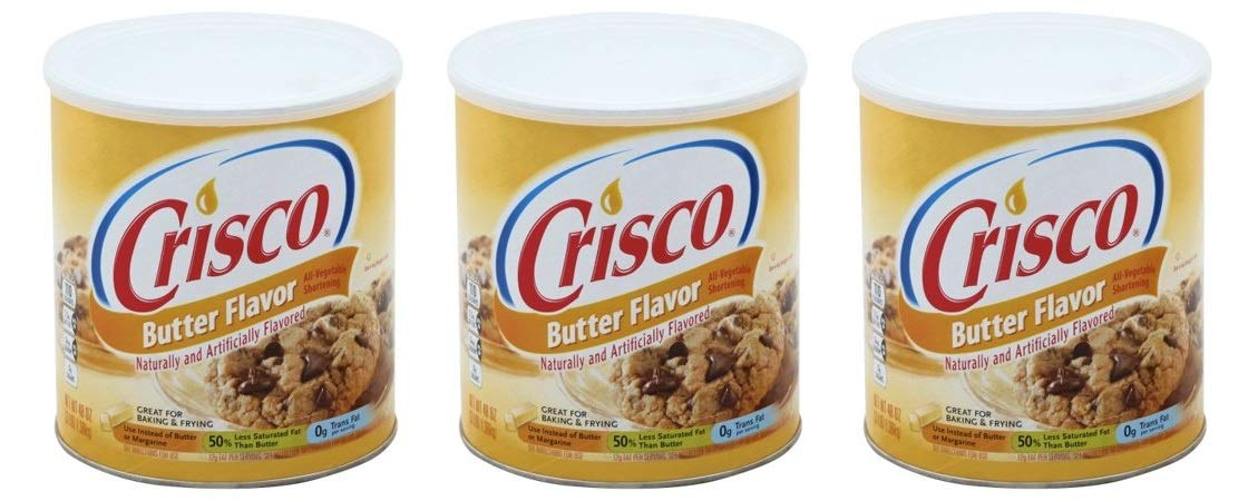Crisco Butter Flavor All Vegetable Shortening, 48 oz 3 Pack by by Crisco