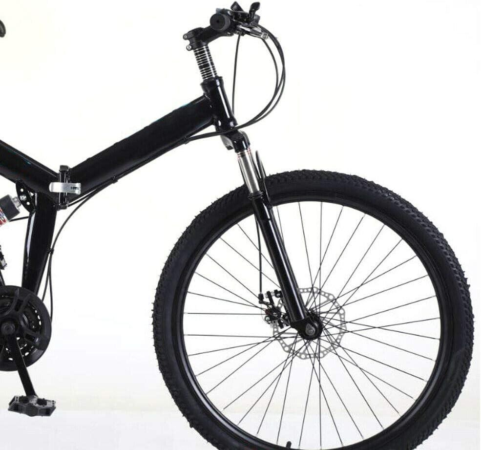 bici da corsa pieghevole colore nero mountain bike bicicletta pieghevole Kaibrite 26 pollici freni a V mountain bike downhill