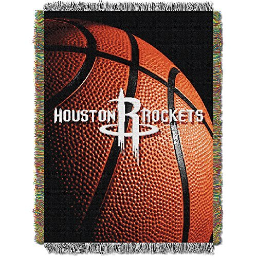 Northwest Houston Rockets NBA Woven Tapestry Throw 48'' x 60'' Blanket by Northwest