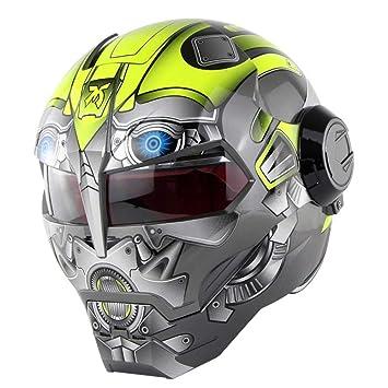 GWJNB Casco De Moto D. O. T Certificado Motocross Cara Completa Casco Moto Flip Máscara Abierta Casco