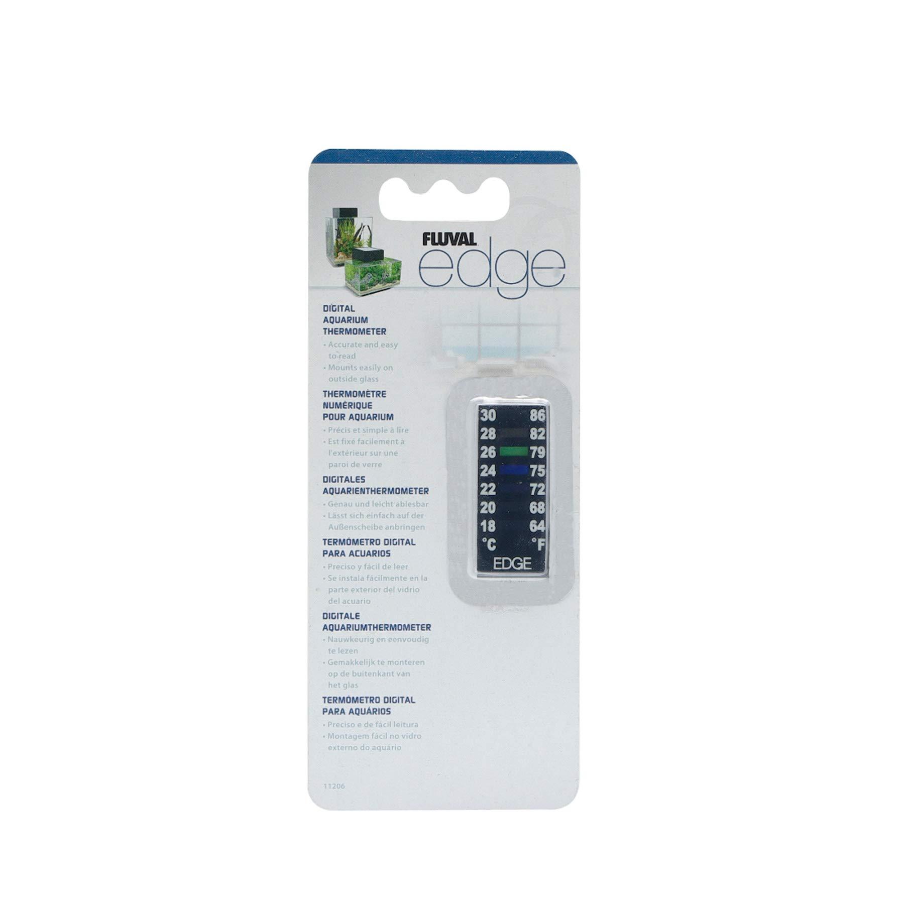 Fluval EDGE Digital Aquarium Thermometer - 64 to 86 degrees Fahrenheit