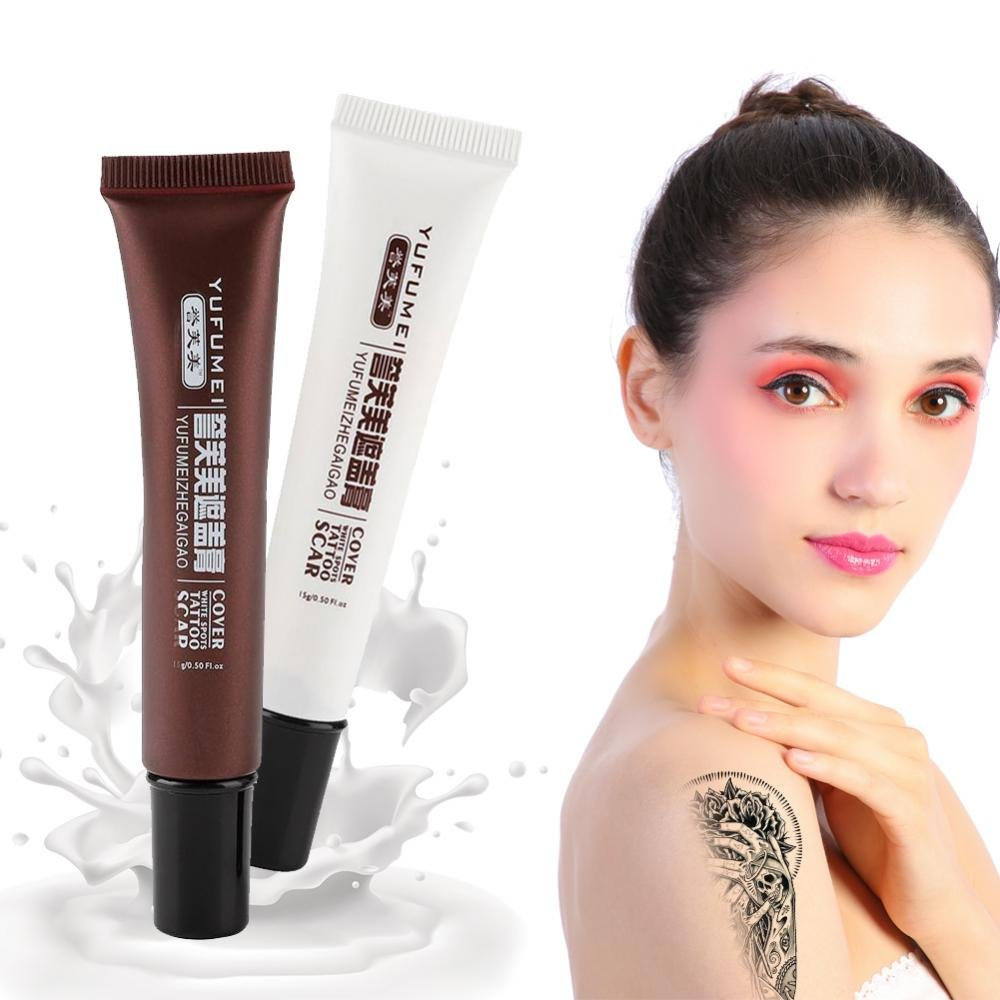 Concealer, Professional Scar Tattoo Concealer Vitiligo Hiding Spots Birthmarks Makeup Cover Cream Set
