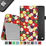 Fintie iPad 2/3/4 Case - [Oriental Breeze Series] Folio Stand Smart Cover with Auto Sleep/Wake Feature for Apple iPad 4th Generation with Retina Display, the New iPad 3 & iPad 2, Flower Burst