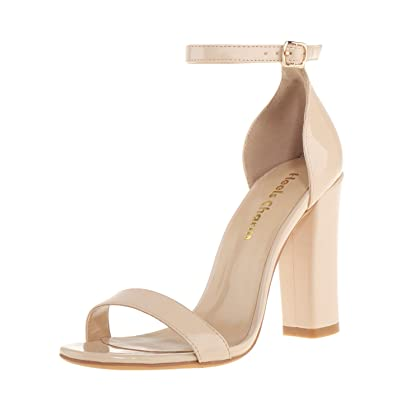 Image result for Women's Strappy Chunky High Heel Ankle Strap Sandals Open Toe Dress Sandal For Wedding Birthday Party Evening Office Shoes