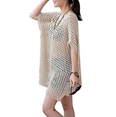 a6bbf2f7d7ed5 Bestyou® Women's Knitted Sweater Crochet Swimsuit Cover up Tunic Beachwear  Swimwear