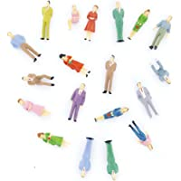Nrpfell 100pcs Painted Model Train People Figures Scale O (1 to 50)