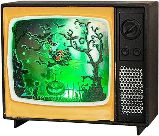 FBGood - Luces de Halloween para decoración Creativa Retro de TV, LED, Luces Creativas para atmósfera, lámparas Decorativas para Bares, Jardines, Navidad, Bodas, Interiores y Festivales, D: Amazon.es: Hogar