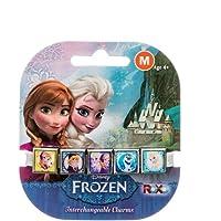 Roxo Disney Frozen 5'li Metal Başlıklı Bileklik, M, Simli