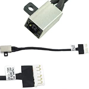 2X DC Power Jack Harness Socket Port Connector Flex Cable Replacement Compatible with Dell Inspiron 15 3567 FWGMM 450.09W05.0001