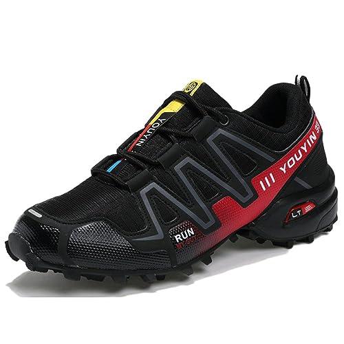 nihiug Trail Running Schuhe Herren Komfortable Lace up